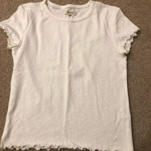 White babydoll tee with frills